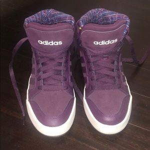 Adidas Neo purple high tops